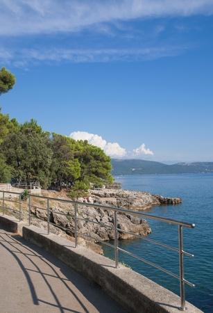 krk: at the Promenade of Krk Town on Krk Island,Croatia