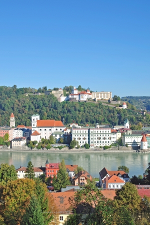 Village of Passau at Danube River in Bavarian Forest,Germany photo