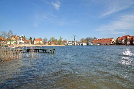 masuria: the popular Village of Mikolajki in Masuria,Polonia