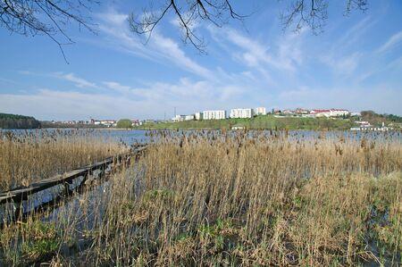masuria: Village of Mragowo in Masuria,Polonia Stock Photo