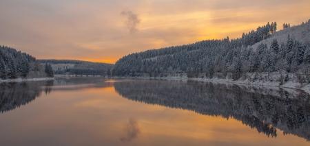 brocken: Oker Reservoir in Harz Mountains near Brocken Mountain,Germany Stock Photo