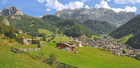 gardena: Village of Selva in Gardena Valley,Dolomites,South Tyrol