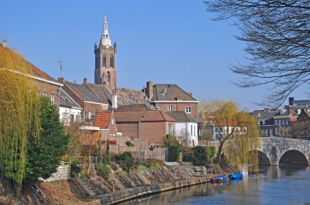 the popular Shopping Town of Roermond in Netherlands