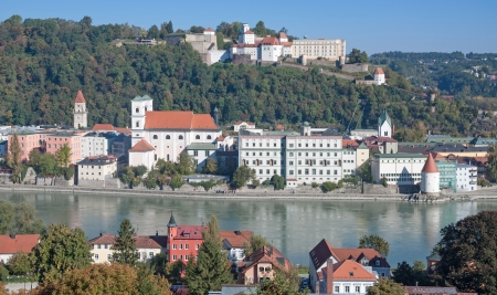Village of Passau at Bavarian Forest,Bavaria,Germany