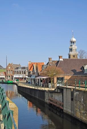 lemmer: Village of Lemmer at Ijsselmeer,Netherlands Stock Photo