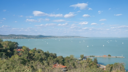 balaton: View from Tihany over Lake Balaton,Hungary