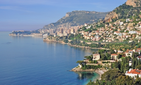 View into the Bay of Monaco,South of France Standard-Bild
