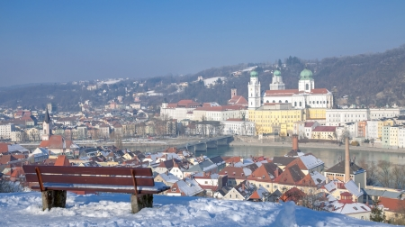 Passau in Wintertime,Bavaria,Germany