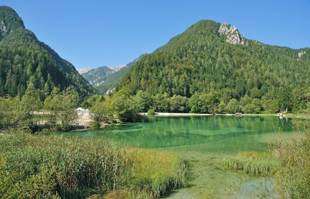 gora: Lake Jasna near Kranjska Gora,Triglav national Park,Slovenia