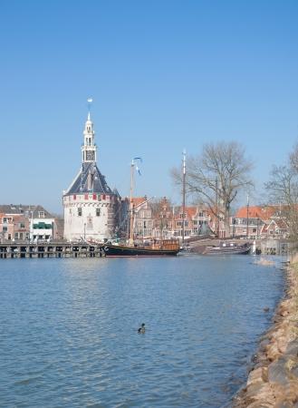 hoorn: Village of Hoorn at Ijsselmeer,Netherlands