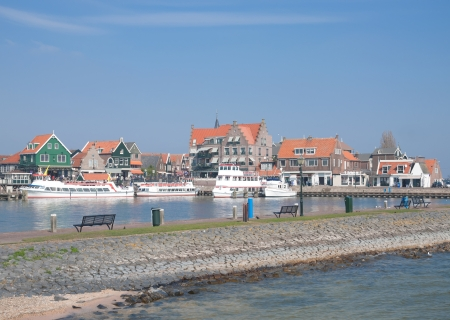volendam: the popular Village of Volendam at Ijsselmeer,Netherlands