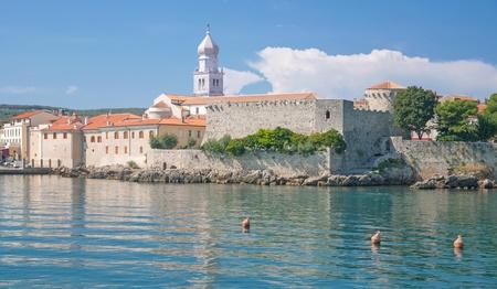 krk: Village of Krk on Krk Island,adriatic Sea,Croatia
