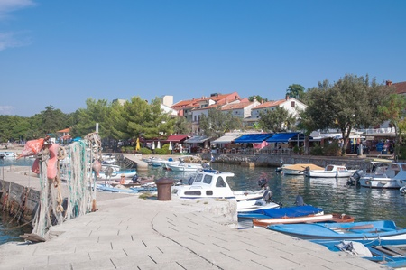 krk: Village of Nijvice on Krk Island,adriatic Sea,Croatia