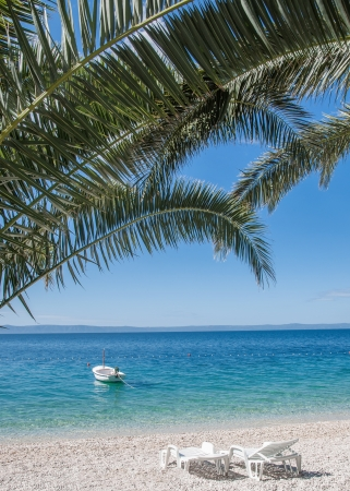 idyllic place at Makarska Riviera,adriatic Sea,Dalmatia,Croatia