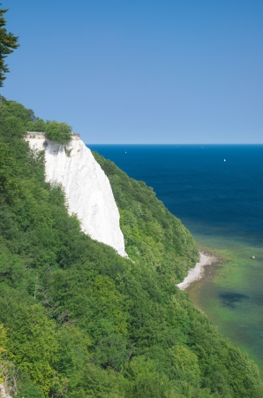 the famous Chalk Cliffs called Koenigsstuhl,Ruegen Island,Germany photo