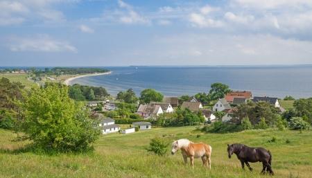 baltic: idyllic Place on Ruegen Island at Moenchgut region,baltic Sea,Germany