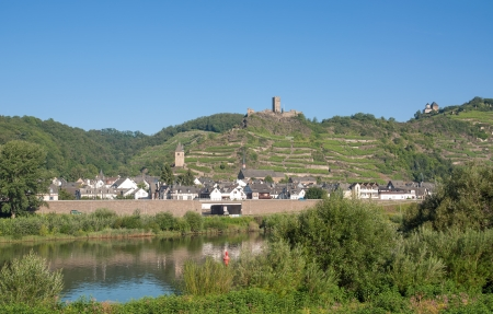 mosel: Wine Village of Kobern-Gondorf at Mosel River,Mosel Valley,Germany Stock Photo