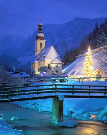 berchtesgaden: Christmas Time in Ramsau near Berchtesgaden,upper Bavaria,Germany