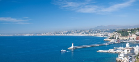 View of Nizza at french Riviera,South of France