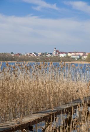 masuria: Village of Mragowo,Masuria,Poland Stock Photo