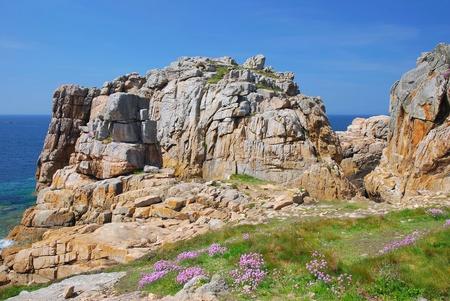 ploumanach: Cote de Granite Rose,Ploumanach,Brittany,France