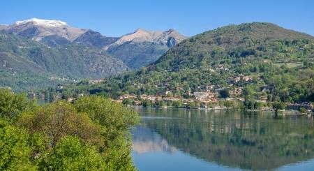 View to Lake Orta near Orta San Giulio,italian lake District,Italy