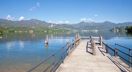 lake district: idyllic Lake Orta,italian Lake District,Italy
