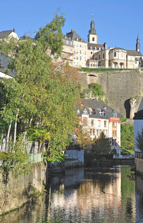 benelux: Old Town of Luxembourg City called Luxembourg Grund,Benelux