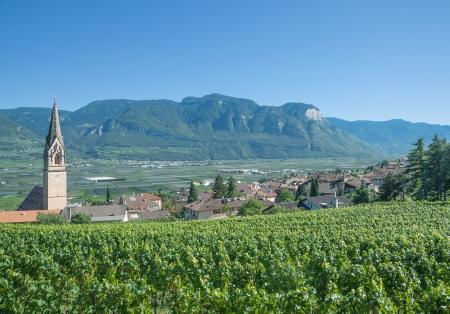 berühmten Weindorf Tramin, Südtirol, Italien