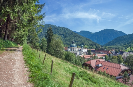 Village and famous Monastery of Ettal near Oberammergau,upper Bavaria,Germany