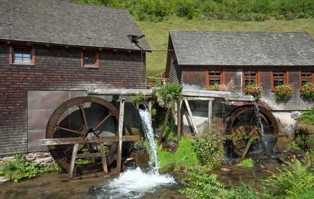 watermill: the famous Watermill in Black Forest near Furtwangen,Germany