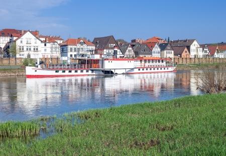 Minden, Weser, Weserbergland, Deutschland Lizenzfreie Bilder