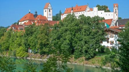 schwangau: Village of Fuessen in Allgaeu,Bavaria,Germany