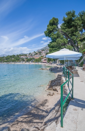 Далмация: at Beach of Brela,Makarska Riviera,Dalmatia,adriatic Sea,Croatia