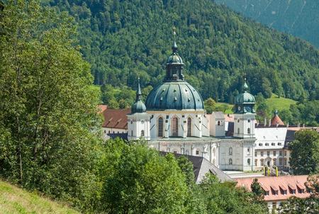 ettal: the famous Ettal Monastery near Oberammergau,upper Bavaria,Germany Stock Photo