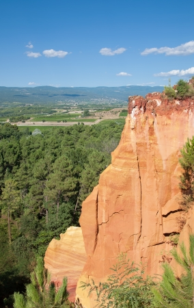 roussillon: the famous Ocher Quarries of Roussillon,Provence,France Stock Photo
