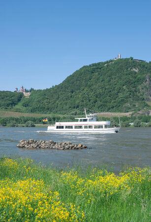 die berühmten Drachenfels im Siebengebirge am Rhein, Rheintal, Deutschland