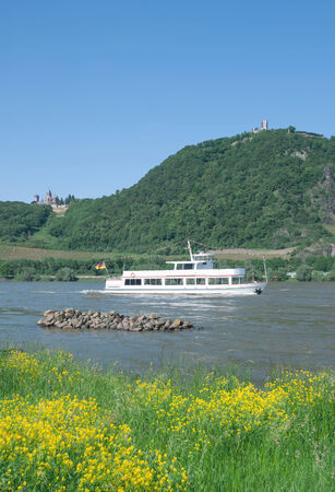 the famous Drachenfels in Siebengebirge at Rhine River,Rhine Valley,Germany
