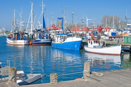 Harbor of Burgstaaken on Fehmarn Island,Baltic Sea,Germany  版權商用圖片