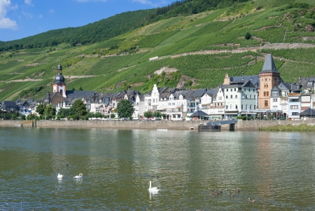 mosel: Wine Village of Zell near Cochem at Mosel River, Germany
