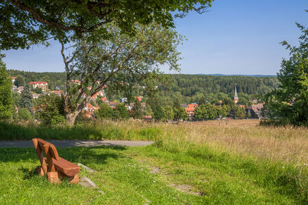 brocken: popular Village of Braunlage near Brocken Mountain,Harz,Germany Stock Photo