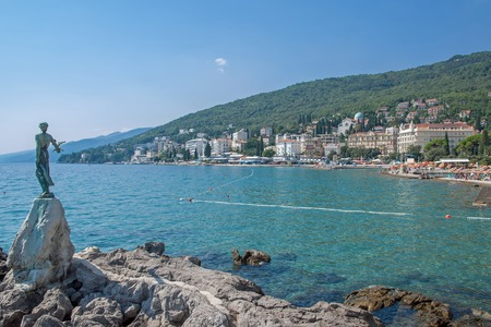 Seaside Promenade of Opatija,Istria,adriatic Sea,Croatia