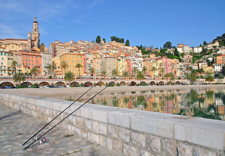 menton: View of Menton at french Riviera,Cote dAzur,South of France