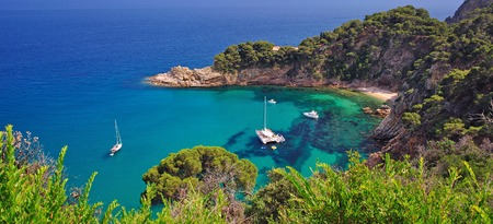 coastal Landscape near Tossa de Mar at Costa Brava,Catalonia,Spain