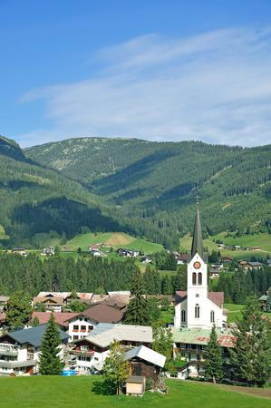 View of Riezlern in Kleinwalsertal ,Vorarlberg,Austria