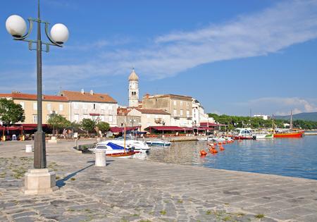 krk: Krk Village on Krk Island,adriatic Sea,Croatia