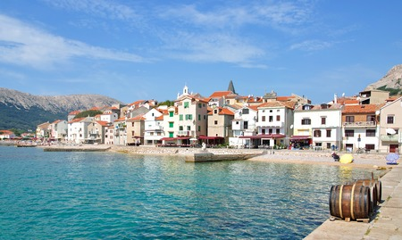 Village of Baska on Krk Island,adriatic Sea,Croatia Standard-Bild