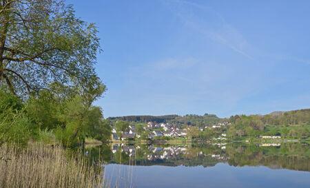 vulcano: Schalkenmehrener Maar,Vulcano Lake in Eifel region,Germany