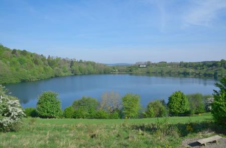 vulcano: Weinfelder Maar,vulcano Lake in Eifel region,Germany