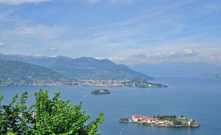 bella: View to Isola Bella,Lake Maggiore,Stresa,Piedmont,Italy